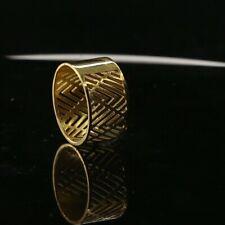 "22k Ring Solid Gold Elegant Charm Ladies V Style Band Size 7.5 ""Resizable"" r2312"
