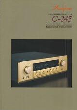 Accuphase C-245 Katalog Prospekt Catalogue Datasheet Brochure