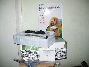 PET GROOMING HAIR CLIPPER KIT - PLUS SCISSORS & METAL COMB, 4 HEADS - NEW IN BOX