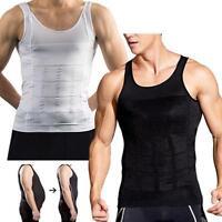 US Men Body Shaper Slimming Tee Full Body Waist trainer Shapewear Corsets Vest