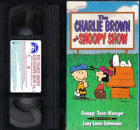 THE CHARLIE BROWN & SNOOPY SHOW VOL. 4~1983 VG/C VHS~2 EPISODES W/ LUCY & LINUS