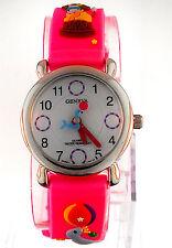 Geneva 3D Circus Theme Hot Pink Rubber Band Kids Watch WA536