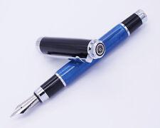 DUKE Da Vinci Series Celluloid Fountain Pen Medium Nib Blue Quicksand Gift Pen