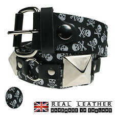 MENS WOMENS STRONG GOTHIC PUNK PATTERN STUDDED LEATHER MENS JEANS SID BELT