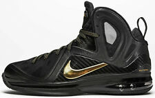 Nike LeBron 9 IX Elite Black Gold Size 10. 516958-002 watch the throne custom