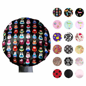 Dilly's Collections Premium MICROFIBRE Shower Cap Bath Hat Hair Care Adults/Teen