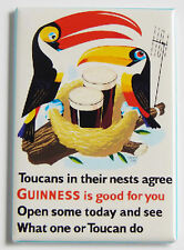 Guinness Toucan Nest FRIDGE MAGNET (2.5 x 3.5 inches) alcohol poster bar sign