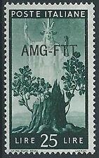 1949-50 TRIESTE A DEMOCRATICA 25 LIRE MH * - ED285