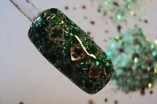 glitter mix acrylic gel nail art     LUCK OF THE IRISH  St. Patrick's mix