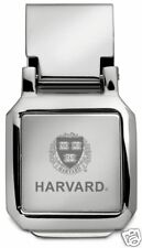 new! HARVARD UNIVERSITY VERITAS ENGRAVED SILVER SPRING MONEY CLIP