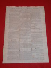 JOURNAL GAZETTE NATIONALE OU LE MONITEUR UNIVERSEL N° 294 SAMEDI 20 OCTOBRE 1792