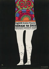 POOR COW 1967 Polish – Terence Stamp, Carol White – Movie Poster Film Art Print