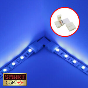 SmartLight L-Shape/Right Angle 8mm-10mm Solderless LED Strip Connector 2/4/5 Pin