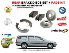 FOR VOLVO V70 ALL MODELS 2.3 2.4 2.5 2000-2007 REAR BRAKE DISCS AND PADS + SHOES