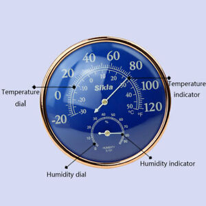 Large Indoor Outdoor Hygrometer Temperature Meter Test Thermometer Wall W U CL