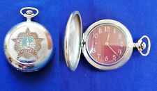 Molnija red star victory Wwii 0075 Vintage Cccp Soviet Ussr Russian pocket watch