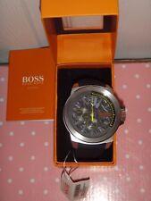 HUGO BOSS Orange Men's Silver Stainless Steel Watch Black Silicon Strap 1513347