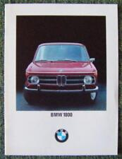 BMW 1800 CAR SALES BROCHURE 1968 REF- V111/68