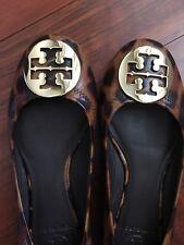 Toty Burch Leopard Reva Ballet Flat, Patent, 6