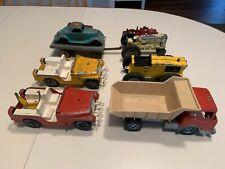 Hubley Vintage Diecast Lot of 9 Trucks Car Wagons Vintage 1950s 60s Jeeps Steel