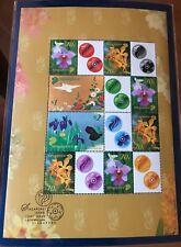 Singapore stamps 2006 Japan joint Mystamp sheetlet Flowers & Birds MNH (1 chop)