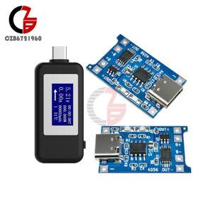 DC Digital LCD Display USB Tester Monitor Voltmeter Ammeter USB Detector+TP4056