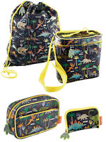 Childs Kids Dinosaur Wallet Lunch Kit Bag Washbag Dino Print School Adults Kids