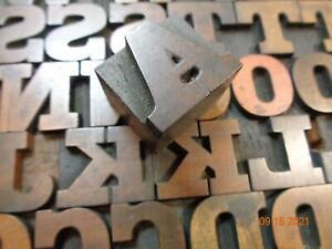 Printing Letterpress Printer Block Antique Wood Columbian Alphabet Unmarked