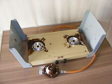 old tramp de luxe DDR Camping Stove Gas Cooker Double boiler Heating plate #2