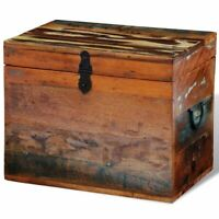 vidaXL Solid Wood Reclaimed Storage Box Chest Organizer Trunk Indoor Stand