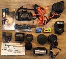 Minolta Maxxum 7000 35mm Slr Camera Bundle W/zoom & Accessories *Untested* !