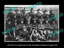OLD 8x6 HISTORIC PHOTO OF WWI AUSTRALIAN ANZAC SOLDIERS 5th LIGHT HORSE c1918