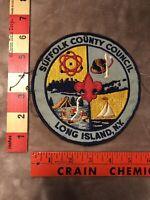 Vtg & BIG SUFFOLK COUNTY COUNCIL Boy Scouts Patch LONG ISLAND NEW YORK 9404
