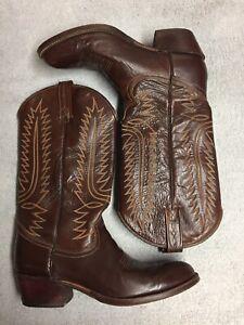 Dan Post Womens Brown Leather Cowboy Western Dress Boots Size Sz 9 A