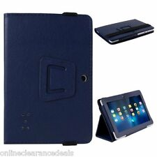 "NEW PU LEATHER PROTECTIVE FLIP STAND CASE ALLWINNER Q88 7"" INCH TABLET *BLUE*"