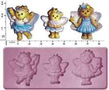FAIRY / TEDDY BEARS Small Craft Sugarcraft Fimo Sculpey Silicone Rubber Mould