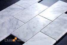 Carrara Mosaic Subway style 320x310 sheet/individial tile size 75x150