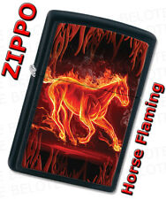 Zippo Fiery Fire Flaming Horse Black Matte Windproof Lighter 28304 NEW L@@K
