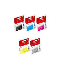 Canon CLI-821 Black, Cyan, Magenta, Yellow and Gray Ink Tanks (5pcs) - Assorted