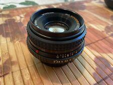 Minolta MD Rokkor-X 45mm f2 Manual Focus Prime Pancake Lens Great Condition
