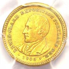1905 Lewis & Clark Gold Dollar G$1 - Certified PCGS AU Detail - Rare Coin!