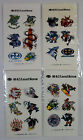 MAUI AND SONS VTG 2000 LOT OF 4 x SURFING SHARK STICKERS SHEETS SET NEW SEALED