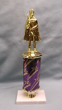 male trophy award king topper purple star oval column marble base