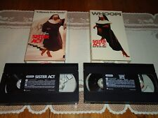 Sister Act 1 & 2 Back in the Habit (2 VHS Set ) Woopi Goldberg, Near Mint