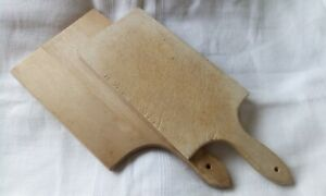 Two French vintage chopping boards