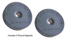 """Armory Racks® """"Magnet Rounds"""" Magnet Hanger for Magazines, Accessories & Guns"""