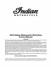 Indian 2017 Chief Chieftain Springfield Roadmaster service manual in ring binder