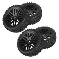 4pcs Wheel Rim & Rubber Tyre Tires Front & Rear for RC 1/10 Off-Road Car Buggy