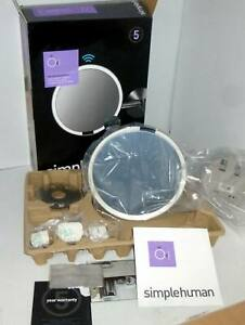 simplehuman ST3015 20cm Wall Mount Sensor Mirror - Polished Stainless Steel
