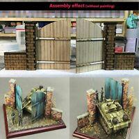 Military Building Model DIY Scenario 1/35 European Wooden Door No.1 CJ0203 Set